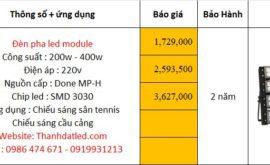báo giá đèn tennis