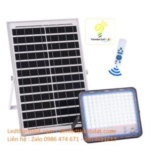 đèn pha năng lượng mặt trời cao cấp 100w nhôm đúc