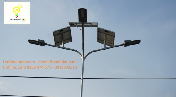 dự án đèn đường năng lượng mặt trời công trình