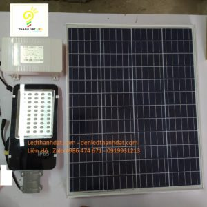 đèn đường led năng lượng mặt trời pin rời 100w