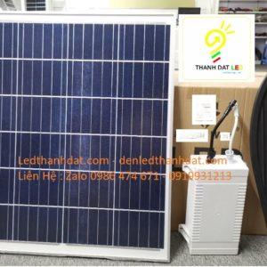 đèn đường năng lượng mặt trời pin rời 100w