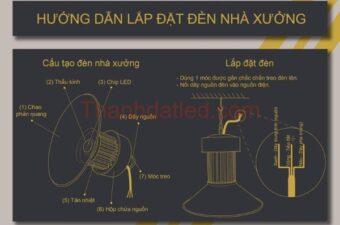 hướng dẫn lắp đặt đèn led nhà xưởng TDL