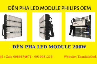 đèn pha led module 200w