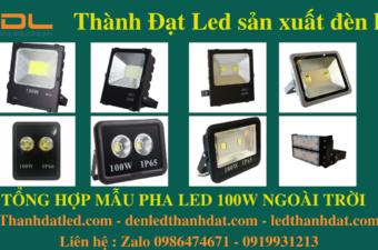 đèn led pha 100w ngoài trời ip65 ip66