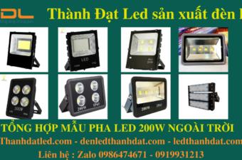 đèn led pha 200w ip66 ip65